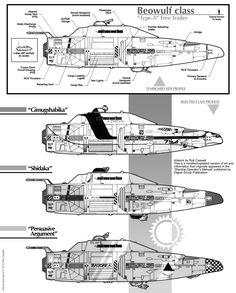 Beowulf Class Profiles (updated) by *Arcas-Art on deviantART