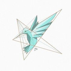 A stylized hummingbird figure, based on star shaped grid. Some very old study… Geometric Drawing, Geometric Logo, Inspiration Logo Design, Icon Design, Design Blogs, Logo Animal, 2 Logo, Star Logo, Photo Images