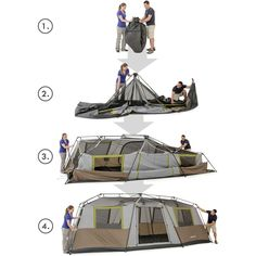 Ozark Trail 10 Person 3-room Instant Cabin Tent - Walmart.com | C&ing......made fun! | Pinterest | Cabin tent Ozark trail and Tents  sc 1 st  Pinterest & Ozark Trail 10 Person 3-room Instant Cabin Tent - Walmart.com ...