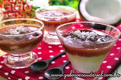 Acabou de almoçar e está louco por um doce? Dá uma olhada neste Creme de Coco com Goiabada Light, não vai fazer você sair da dieta, pois é super leve!  #Receita aqui: http://www.gulosoesaudavel.com.br/2013/05/11/creme-coco-goiabada-light/