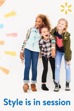 Ripped jeans, cool shoes, trending jackets --if it's in style, it's at Walmart. Get back to school looks she'll love at prices you'll love even more. Stock up today!