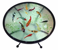 Hawkhill Forge Koi table. Exquisite