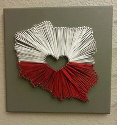 string art - map of poland Map Crafts, Home Crafts, Diy And Crafts, Origami, Art Lessons For Kids, Map Art, Art School, Independence Day, Diy For Kids