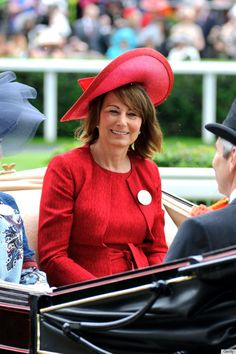 Carole Middleton wearing Jane Corbett hat at Royal Ascot 2012