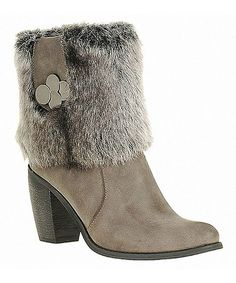 Take a look at this Gray Charm Boot by Reneeze on #zulily today!