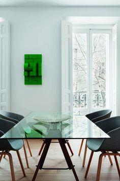 Simples decoração em Salamanca.  Fonte: Revista Interiores.
