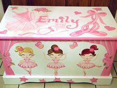 Ballerina Toy Box Personalized Custom by originalsbybarbmazur, $289.00