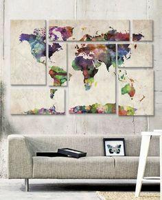 Mapa-múndi na decoração: 27 jeitos de usar
