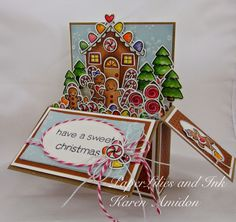 PaperLilies and Ink: Pop Up Box Sweet Christmas