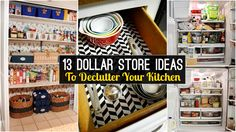 13 Declutter Kitchen ideas from dollar store - YouTube