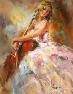 Paintings of cello players - Google Search