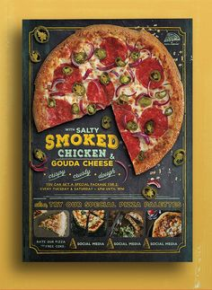 Pizza Promo Flyer on Behance Like & Repin. Noelito Flow. Noel http://www.instagram.com/noelitoflow