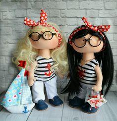 Купить Текстильная игровая кукла ручной работы - ярко-красный, текстильная…