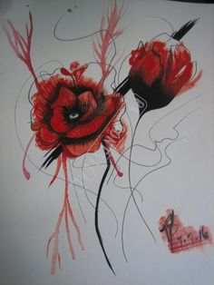Polka Trash Poppies, Singles by BewitchmentArtistry on Etsy