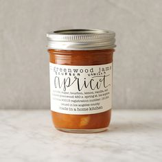 Hand-crafted in small batches by a mother-daughter duo, M. Greenwood jams are made in California using the freshest local ingredients. Perfect for pairing with cheese, this warm, buttery jam blends fresh apricots with bourbon and a hint of sweet vanilla.- Ingredients: apricots, sugar, bourbon, vanilla, salt- Natural, vegan, gluten and nut-free- Handmade in California8 oz.
