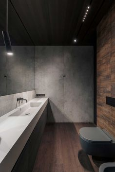 Masculine Interior, Wood Bathroom, Concrete Wall, Apartment Interior, Industrial, House Design, Interior Design, The Originals, Glass