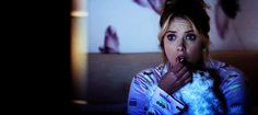 """Pin for Later: 100 Perfect Facial Expressions, Courtesy of Pretty Little Liars The """"Girl, Do NOT Go in the Basement"""" Source: ABC Family"""