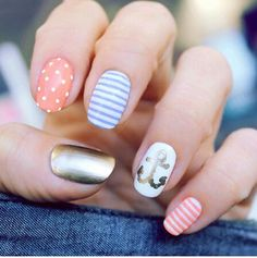 Super cute summer nail design