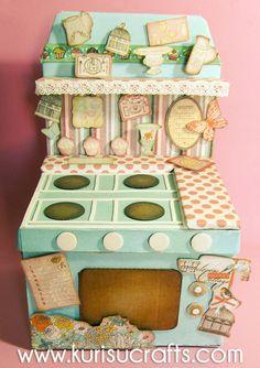 Kurisu Crafts: Caja-recetario cocina vintage