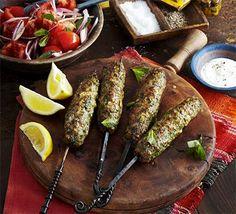 Spiced lamb koftas with mint & tomato salad recipe - Recipes - BBC Good Food