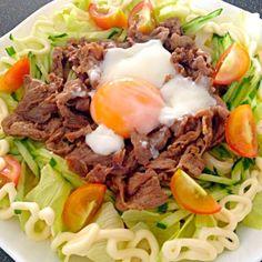 主人のお昼✨ 私はランチ会 - 54件のもぐもぐ - 肉サラダうどん by masako522