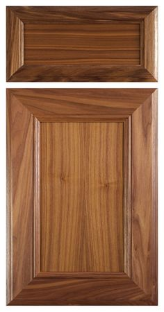 mitered cabinet door in select walnut with clear finish contemporary kitchen cabinets