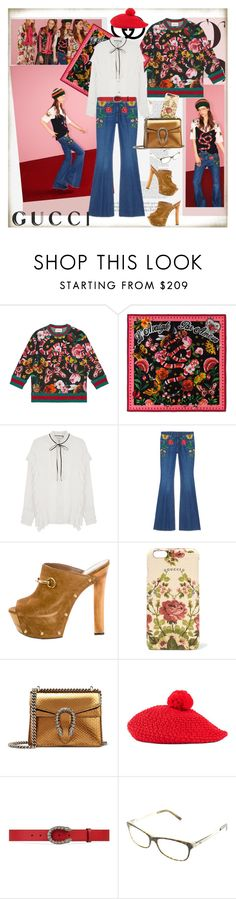 """""""How to wear: the Gucci Garden Exclusive Collection: Contest Entry"""" by ellie366 ❤ liked on Polyvore featuring Gucci, garden, exclusive, gucci, HowToWear and floralprints"""
