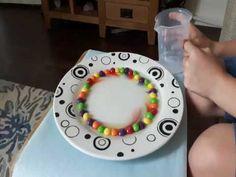 Finding the rainbow!  #kids #skittles #fun #experiment #children #schoolholidays
