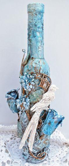 Altered Bottle - Scrapbook.com