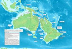 Australia and Zealandia during the last ice age, when the sea level was lower.