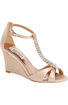 Badgley Mischka 'Romance' Wedge Sandal (Women) available at #Nordstrom