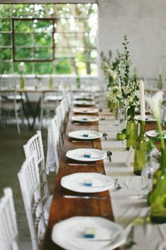 fresh and so green, green tablescape  Photography by http://bluebottlephotography.com