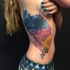 Geometric space tattoo by Nick Friederich via Instagram #NickFriederich #space…