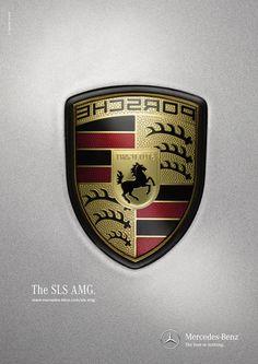 Mercedes-Benz SLS AMG: Logos Print Advertising, Advertising Campaign, Print Ads, Marketing And Advertising, Amg Logo, Mercedes Benz Sls Amg, Famous Logos, G Class, G Wagon