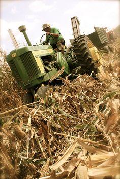 Antique John Deere tractor at Half Century of Progress Show in Rantoul, Illinois