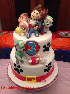 Paw patrol cake - all the pups Toddler Birthday Cakes, Wiggles Birthday, 3rd Birthday Cakes, Paw Patrol Birthday Theme, Paw Patrol Party, Torta Paw Patrol, Bithday Cake, Novelty Cakes, Cakes For Boys