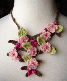 cherry blossom sakura necklace by meekssandygirl, via Flickr