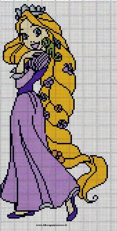 Rapunzel cross stitch by syra1974 on DeviantArt