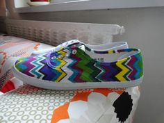 Our take on DIY tutorial Diy Tutorial, Adidas Sneakers, Colors, Projects, Shoes, Fashion, Log Projects, Moda, Blue Prints