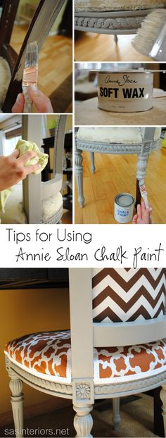 Tips + Tricks for Using Annie Sloan Chalk Paint and Wax. How-To on…