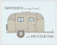 Airstream Trailer Travel Printable Print  -- INSTANT DOWNLOAD -- 8 x 10 --Nursery Art Print