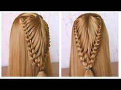 Coiffure avec tresse ♡ Tuto coiffure simple cheveux long/mi long ♡ facile à faire - YouTube