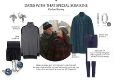 Ice skating, both fun and romantic #PANDORAmagazine gives you a couple of jewelry tips for your date outfit #PANDORAstyle