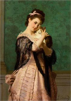 Girl With a Cat? by Joseph Caraud