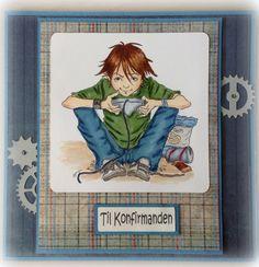 Kenny K stamps, Konfirmationskort