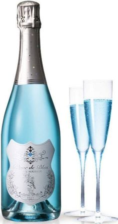 Winter Wedding Blue Cocktails