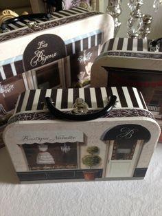 Chic 3 PC franceses Boutique Caixas Suitcase