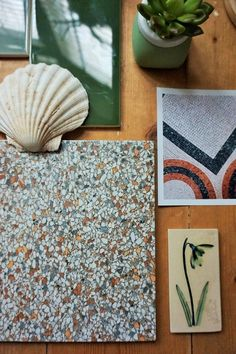 best=AD Tile Giant X Victoria Baths Susan Earlam Creative Lifestyle Home Charris Bridal Ideal Bathrooms, Victorian Buildings, Terrazzo Flooring, Best Ads, Style Tile, Natural Texture, Classy Dress, Bathroom Inspiration, Shades Of Green