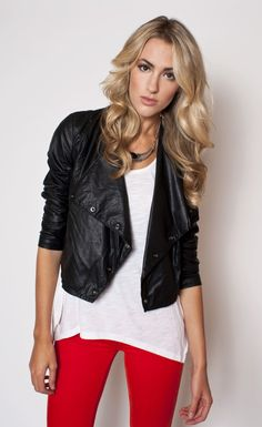 This is one of my favorite products on Kembrel: BLANK NYC - SHAWL COLLAR VEGAN LEATHER JACKET. Check it out and get 20% off for the next 48 hours. #fallforfashion