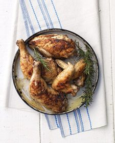 Honey Brine This recipe makes enough for 1 whole chicken, cut into parts, or six 1-inch-thick bone-in pork chops.